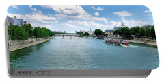 River Seine At Pont Du Carrousel Portable Battery Charger