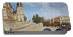 Pont Saint Michel, Paris Portable Battery Charger