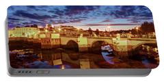 Ponte Romana At Dusk - Tavira, Portugal Portable Battery Charger