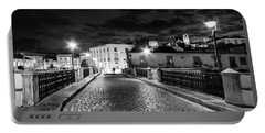 Portable Battery Charger featuring the photograph Ponte Romana At Night - Tavira, Portugal by Barry O Carroll