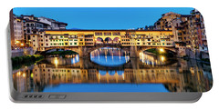 Portable Battery Charger featuring the photograph Ponte Vecchio At Night by Fabrizio Troiani