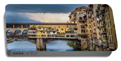 Portable Battery Charger featuring the photograph Ponte Vecchio E Gabbiani by Sonny Marcyan