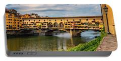 Ponte Vecchio Florence Italy 7k_dsc2439_09152017 Portable Battery Charger