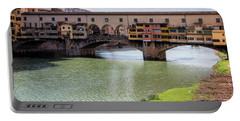 Portable Battery Charger featuring the photograph Ponte Vecchio Florence Italy II by Joan Carroll