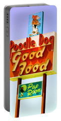 Poodle Dog Diner Portable Battery Charger