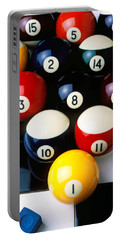 Pool Balls On Tiles Portable Battery Charger