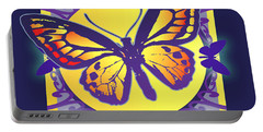 Pop Art Butterfly Portable Battery Charger