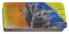 Pop Art Coconut Tree Retro Tropical Vintage Palm  Portable Battery Charger