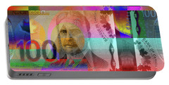 Pop-art Colorized New One Hundred Canadian Dollar Bill Portable Battery Charger