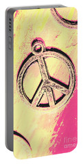 Pop Art In Peace Portable Battery Charger