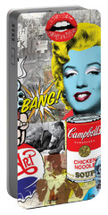 Pop Art Montage Portable Battery Charger