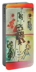 Pop Art Music Robot Portable Battery Charger