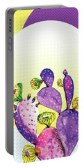 Pop Cacti - Purple Yellow Portable Battery Charger