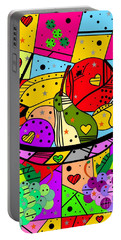 Popart Fruits By Nico Bielow Portable Battery Charger by Nico Bielow