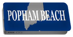 Portable Battery Charger featuring the photograph Popham Beach Maine State City And Town Pride  by Keith Webber Jr