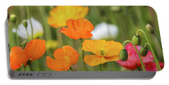 Portable Battery Charger featuring the photograph  Poppies 1 by Werner Padarin