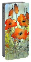 Poppies Abstraction Portable Battery Charger