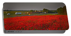 Poppies Along I-85 Portable Battery Charger