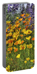 Portable Battery Charger featuring the photograph Poppies And Lupines by Jim and Emily Bush