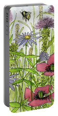 Poppies And Wildflowers Portable Battery Charger