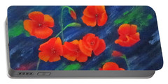Poppies In Abstract Portable Battery Charger