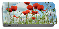 Poppies In Field Portable Battery Charger