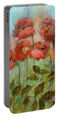 Poppies In Pastel Watercolour Portable Battery Charger