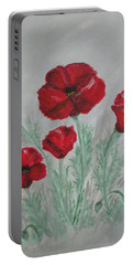 Poppies In The Mist Portable Battery Charger by Sharyn Winters