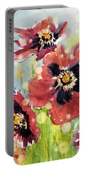 Poppies Portable Battery Charger by Judith Levins