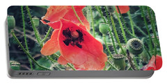 Poppies Portable Battery Charger by Karen Stahlros