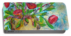 Poppies Portable Battery Charger by Karin Husty