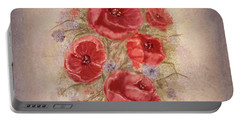 Poppies Of Memory Lane Portable Battery Charger
