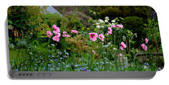 Poppies Of The Great Dixter Portable Battery Charger by Tanya Searcy