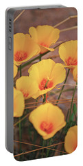 Poppies On Mount Lemmon Portable Battery Charger