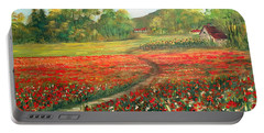 Poppies Time Portable Battery Charger by Dorothy Maier