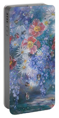 Poppies, Wisteria And Marguerites Portable Battery Charger