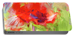 Portable Battery Charger featuring the photograph Poppy Abstract Photo Art by Sharon Talson