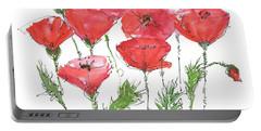 Poppy Garden Portable Battery Charger