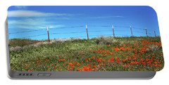Portable Battery Charger featuring the mixed media Poppy Hill- Art By Linda Woods by Linda Woods