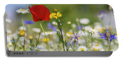 Poppy In Meadow  Portable Battery Charger