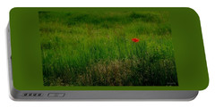Portable Battery Charger featuring the photograph Poppy In The Field by Marija Djedovic