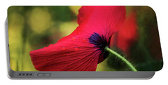 Poppy In The Rain Portable Battery Charger