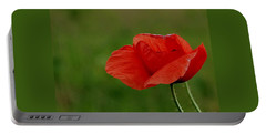 Portable Battery Charger featuring the photograph Poppy by Marija Djedovic