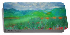 Poppy Meadows Portable Battery Charger