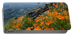 Poppy Mountain  Portable Battery Charger by Kyle Hanson