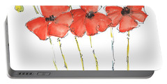 Red Poppy Play Portable Battery Charger