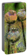 Poppy Pods Portable Battery Charger by Dragica Micki Fortuna