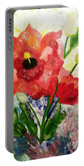 Poppy Profusion Portable Battery Charger by Maria Urso