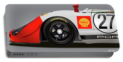 Porsche 908 Detail Illustration Portable Battery Charger