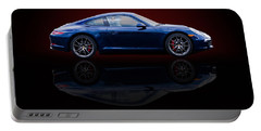 Porsche 911 Carrera - Blue Portable Battery Charger